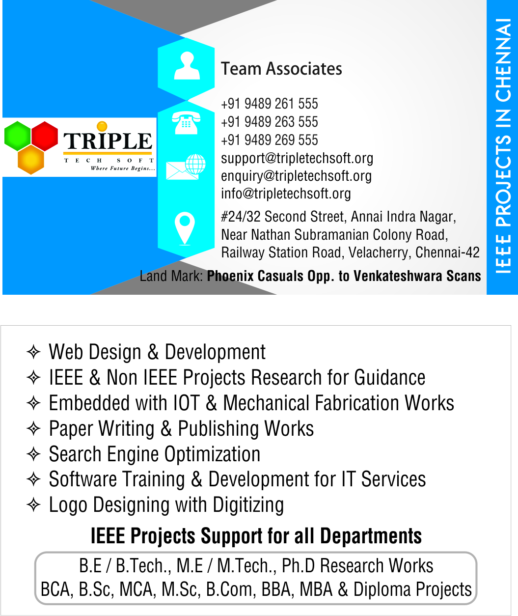 Ieee Project Centers Velachery Final Year Project Center In Velachery Tripletechsoft